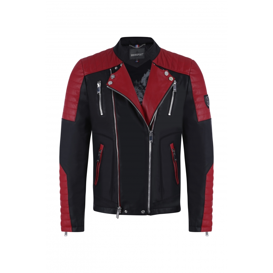Jacket Manoir Leather Red