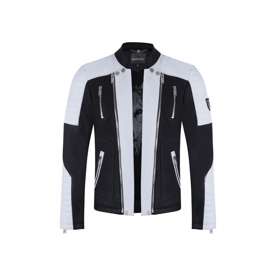 Jacket Manoir Leather White