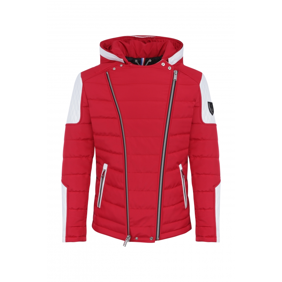 Down Jacket Carlton Red and White