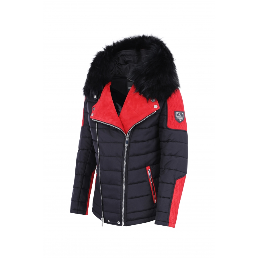 Down Jacket Carlton Suede Red