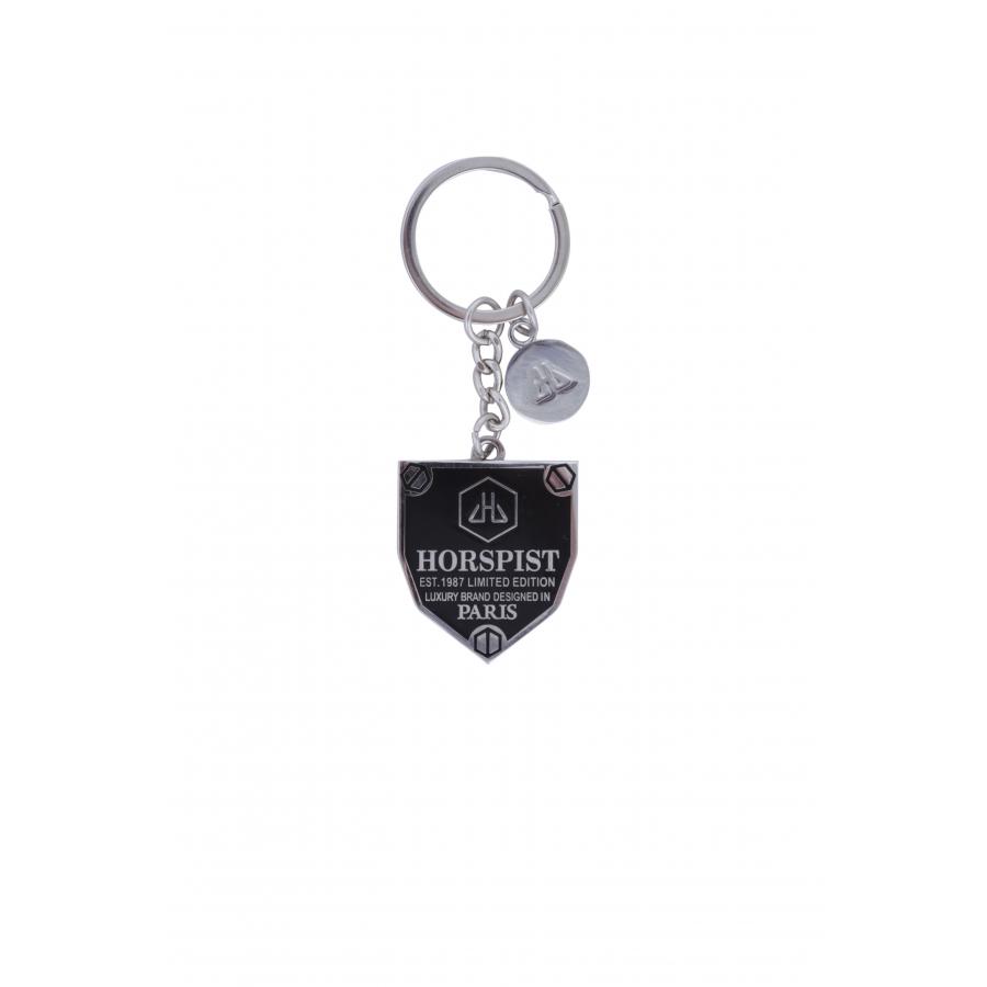 Porte-clés Logo Noir Argent