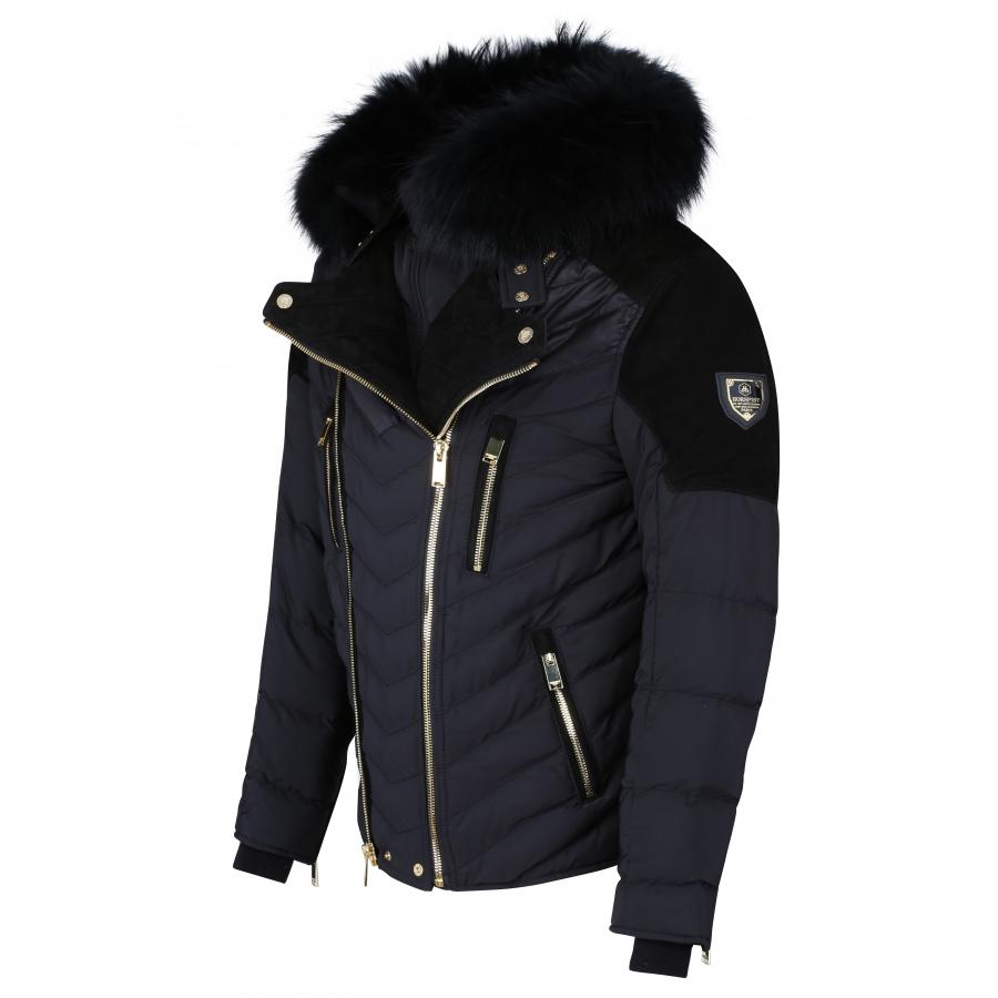 Down Jacket Cobra Suede Black & Gold