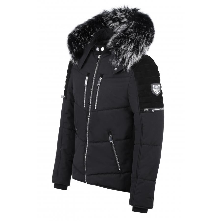 Down Jacket Carbone Suede Black