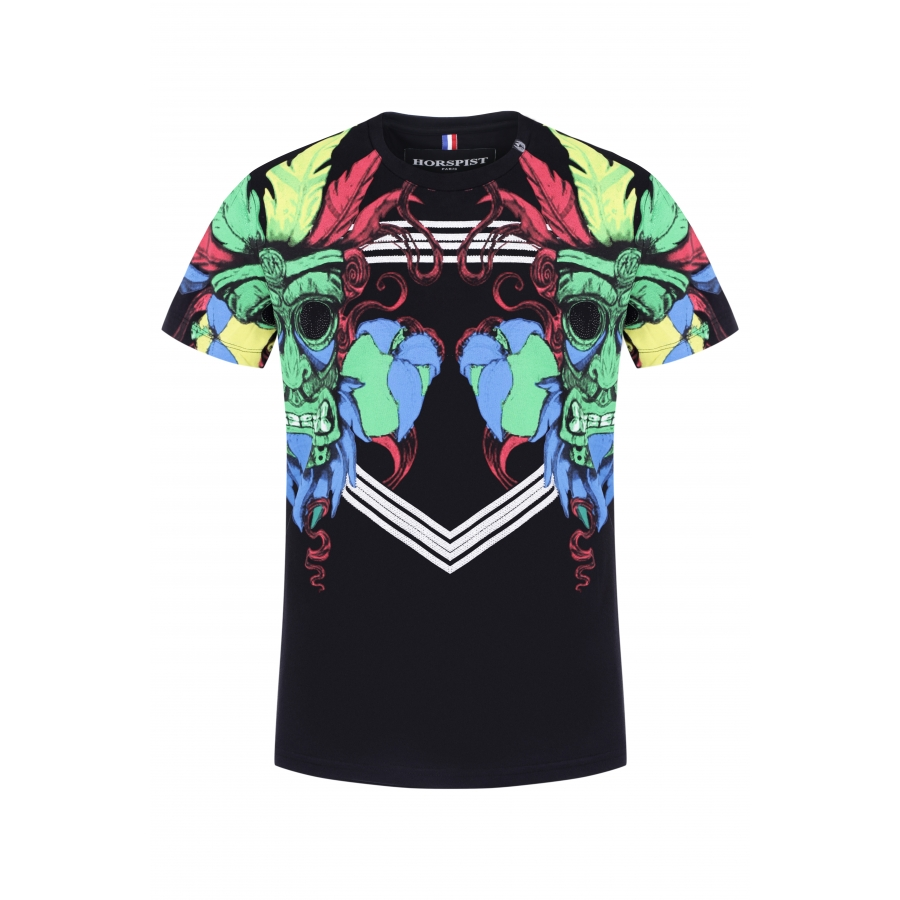T-shirt Indian Black
