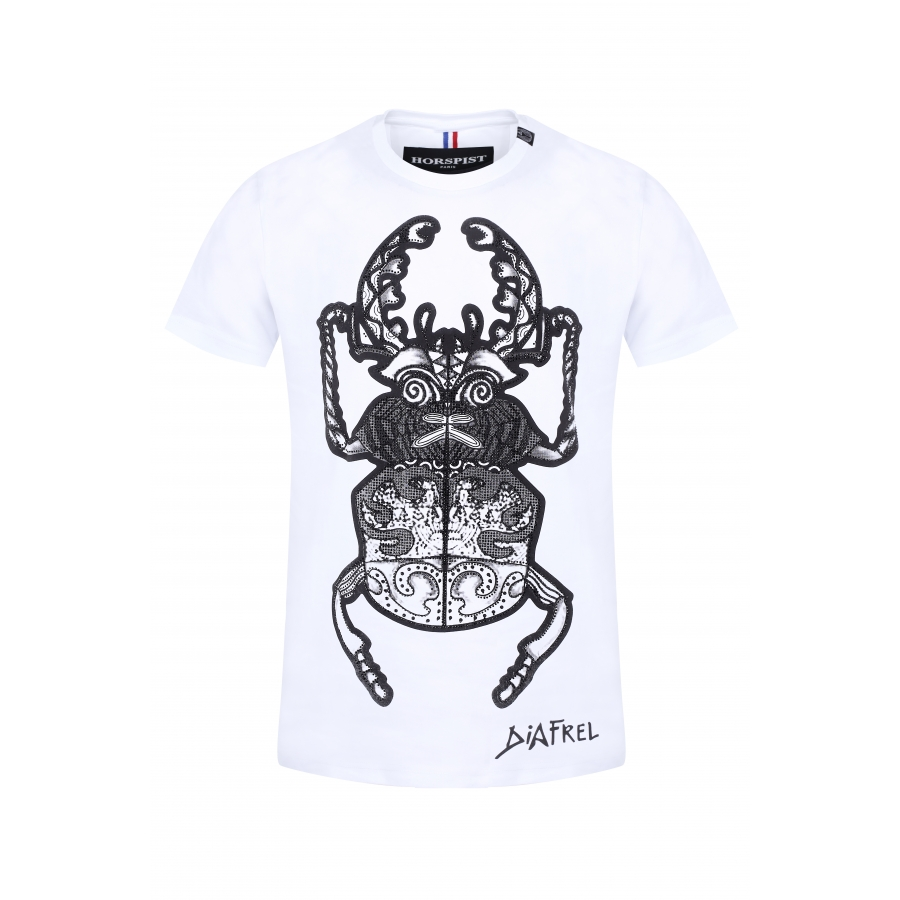 T-shirt Beetle White