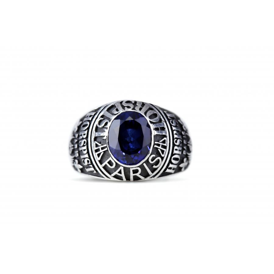 Signet Ring Silver Héritage Blue