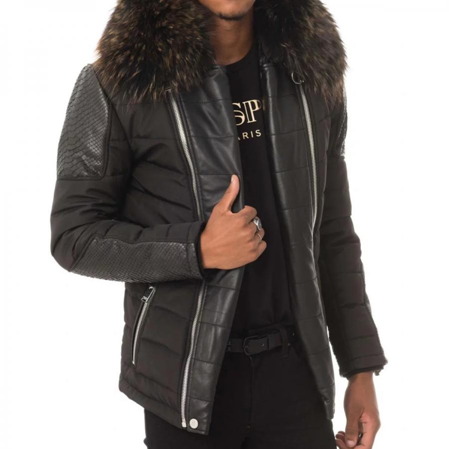 Down Jacket Carlton Python Black