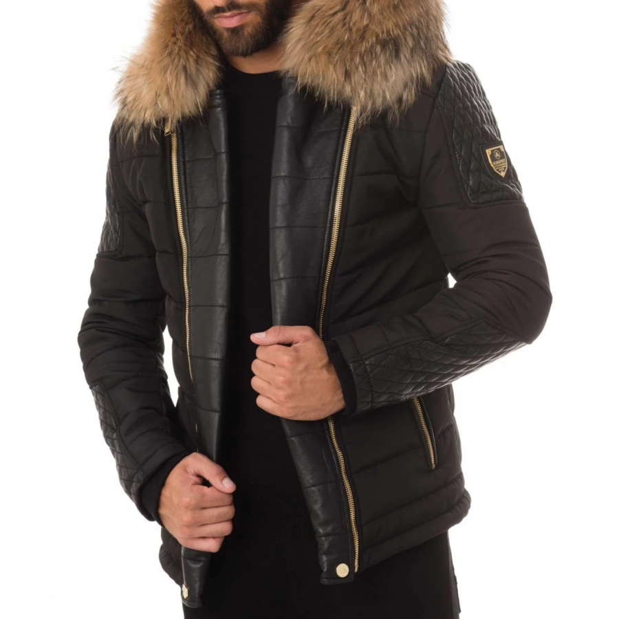 Down Jacket Carlton Black and Gold