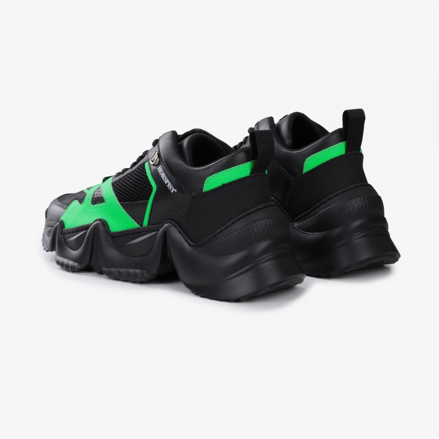 Sneakers Eiffel Noir et Vert