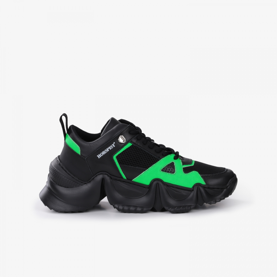 Sneakers Eiffel Black and Green