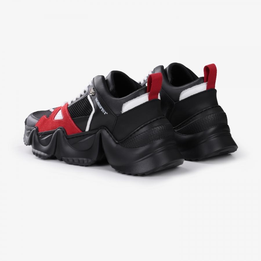 Sneakers Eiffel Noir et Rouge