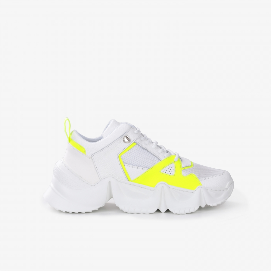 Sneakers Eiffel White and Yellow
