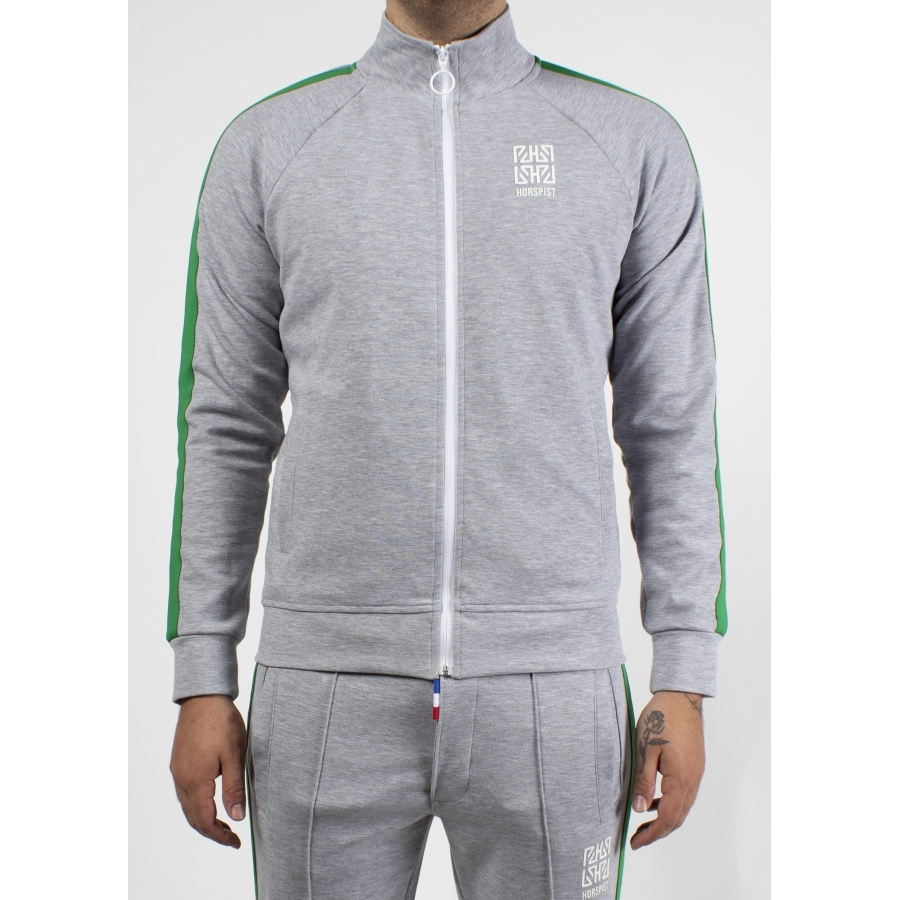 Sweat Michigan Gris et Vert