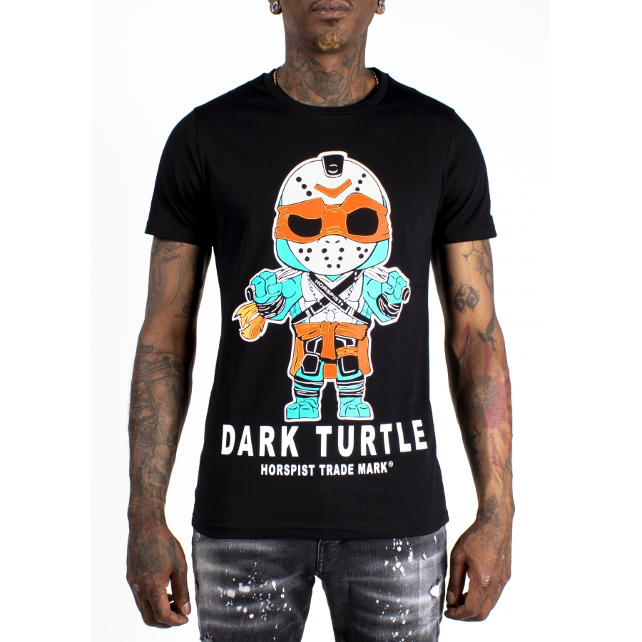 T-shirt Turtle Noir