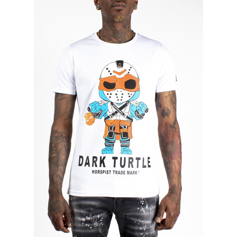 T-shirt Turtle Blanc