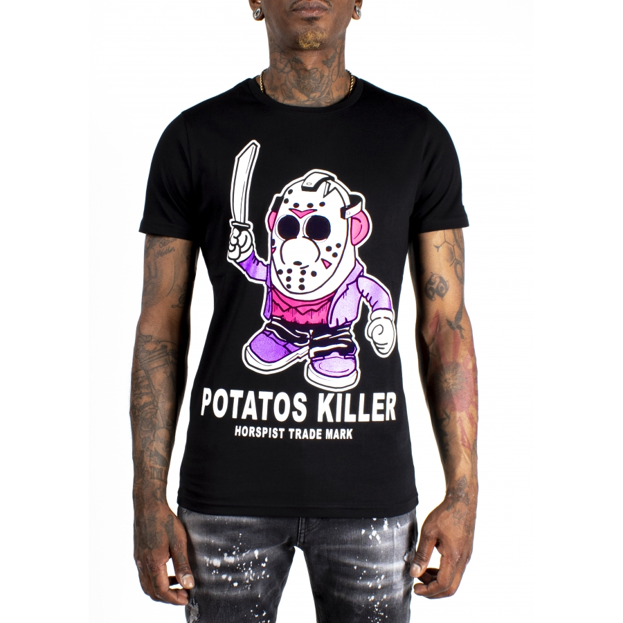 T-shirt Potatos Noir