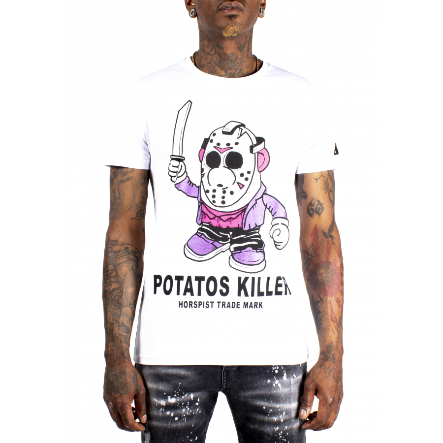 T-shirt Potatos Blanc