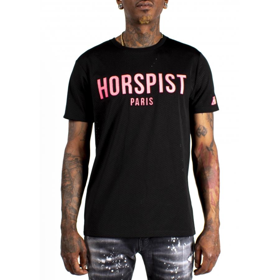 T-shirt Frog Noir et Rose