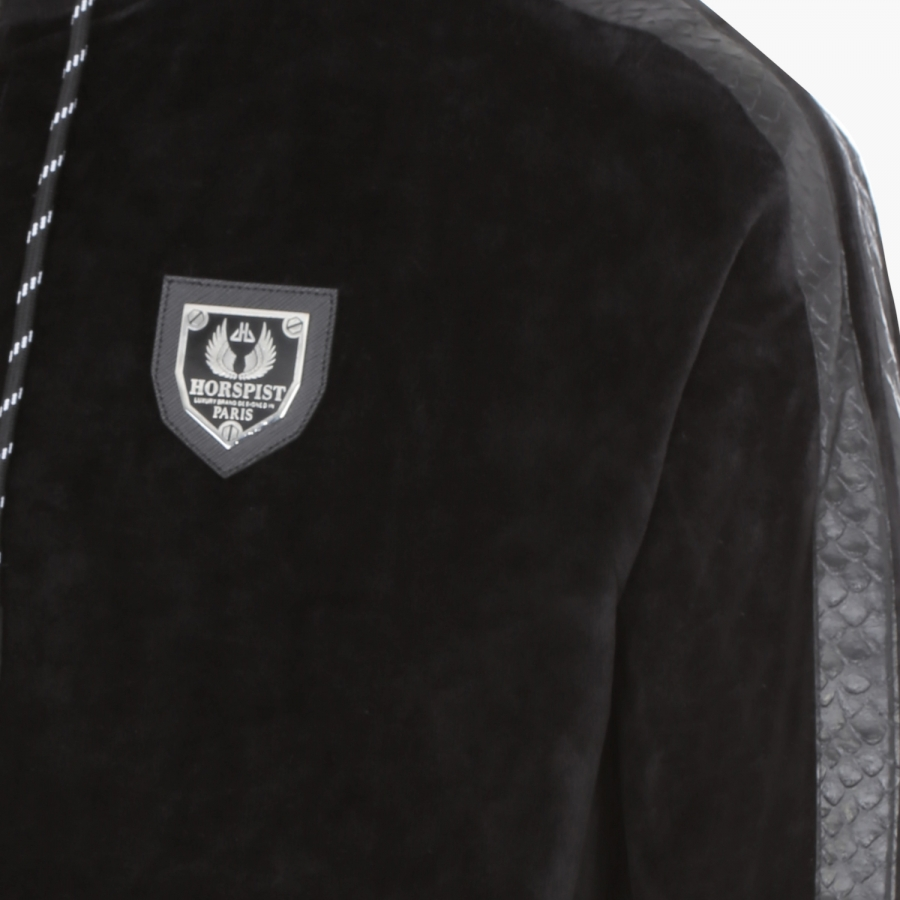 Sweat Downey Velour Noir