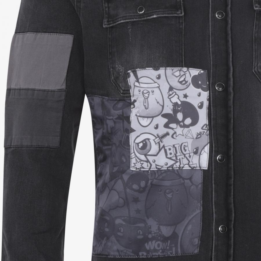 Shirt Jean Oscar C210 Black