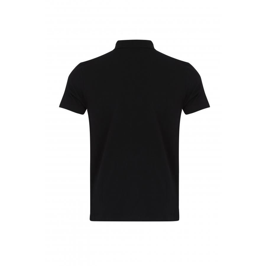 Polo Timeless Noir Blason Blanc
