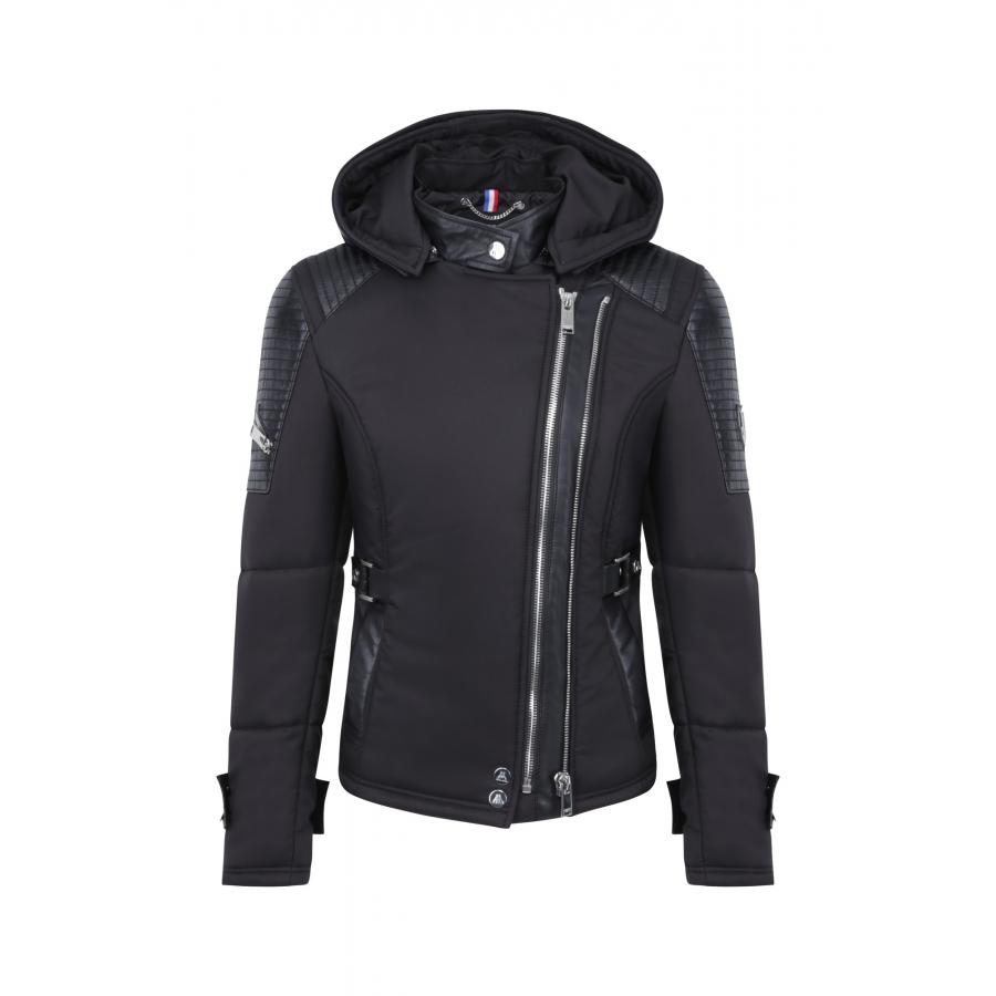 Down Jacket Milano Bis Black Silver